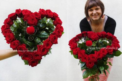 """Kwiaciarnia Vanilla – bukiet róż ,,Wyjdź za mnie"""""""