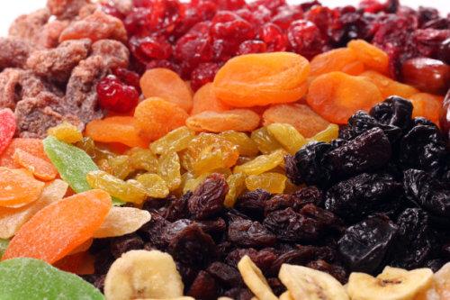 Suszone owoce i warzywa