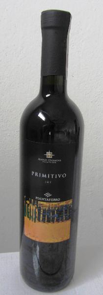 Wino Piantaferro Primitivo